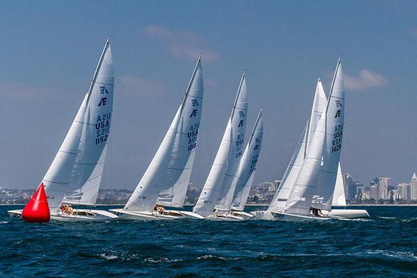 Etchells North American Championships at San Diego day 3 photo copyright Cynthia Sinclair taken at San Diego Yacht Club and featuring the Etchells class