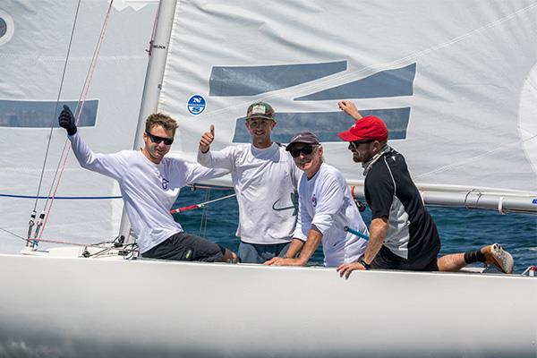 Scott Kaufman, Jesse Kirkland, Alex Curtiss, and Austen Anderson win the Etchells North American Championships at San Diego photo copyright Cynthia Sinclair taken at San Diego Yacht Club and featuring the Etchells class