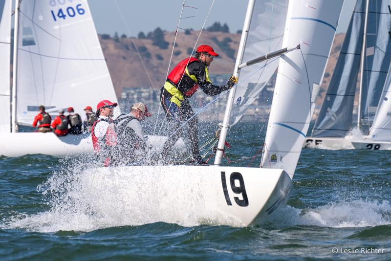Senet Bischoff takes the lead after day 2 of the Etchells Worlds in San Francisco photo copyright Leslie Richter / Rockskipper Photography taken at San Francisco Yacht Club and featuring the Etchells class