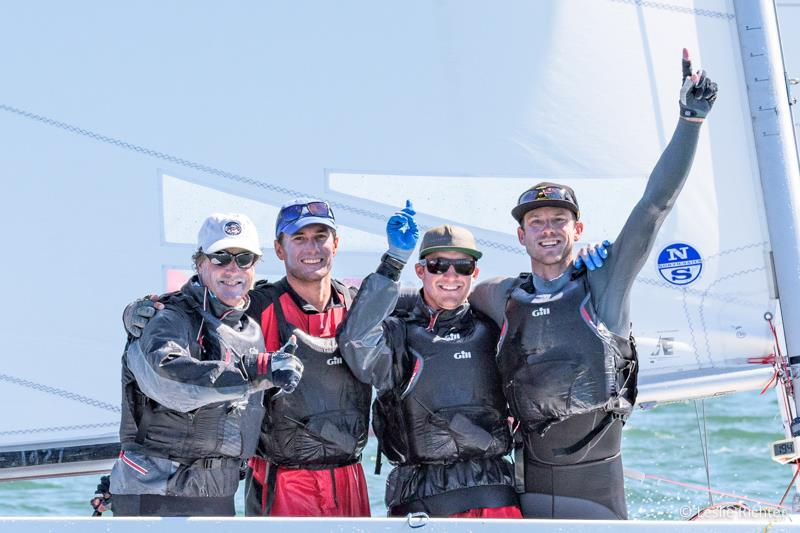 Steve Benjamin, Michael Menninger, Ian Liberty & Dave Hughes win the Etchells Worlds in San Francisco photo copyright Leslie Richter / Rockskipper Photography taken at San Francisco Yacht Club and featuring the Etchells class