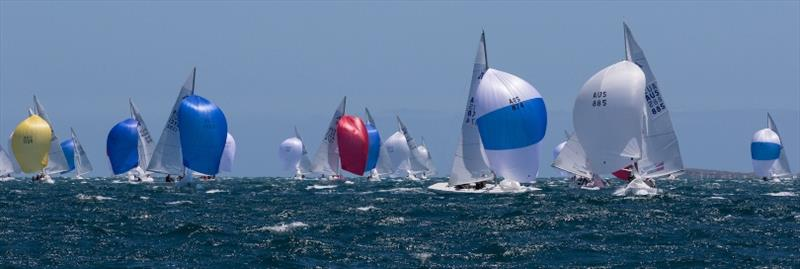 Final day - Etchells Australian Championships at Fremantle photo copyright Ron Jensen taken at Royal Perth Yacht Club and featuring the Etchells class