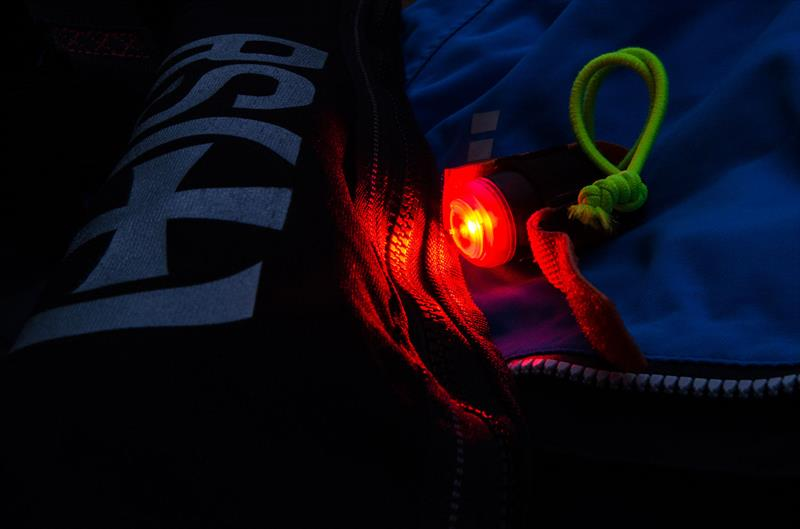 Exposure SpotMe Red on a Lifejacket - photo © Exposure Lights