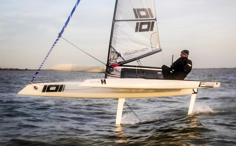 The F101 foiling trimaran - photo © Sportsboatworld.com
