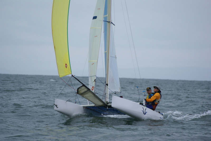The F16 Catamaran Global Challenge takes place at Mumbles