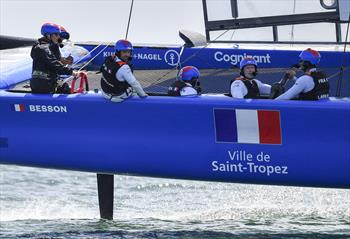 Zara Tindall joins France SailGP Team in Plymouth