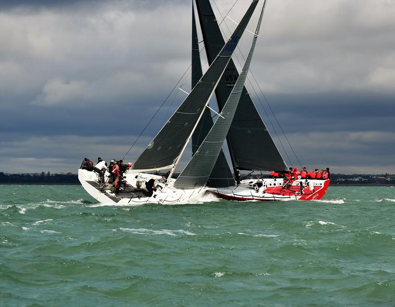 Fast40  upwind on weekend 1 of the Crewsaver Warsash Spring Championship - photo © Sam Penahaul