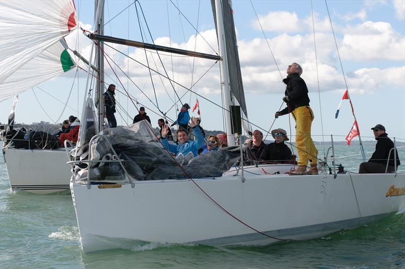 Sunshine to windward of Malice in IRC3 on weekend 1 of the Crewsaver Warsash Spring Championship - photo © Iain McLuckie