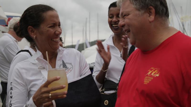 Nicole Williams enjoys a 'Perfect Storm' at Antigua Sailing Week - photo © ASW Media Team