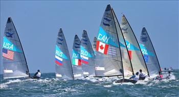 Finns on day five of the London 2012 Olympic Sailing Competition