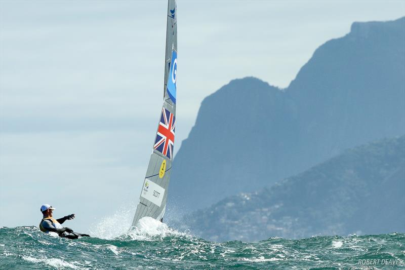 Giles Scott at the Rio 2016 Olympic Sailing Competition - photo © Robert Deaves