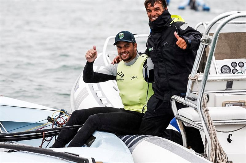 Jorge Zarif (BRA) wins the Finn class at World Cup Series Miami - photo © Pedro Martinez / Sailing Energy / World Sailing