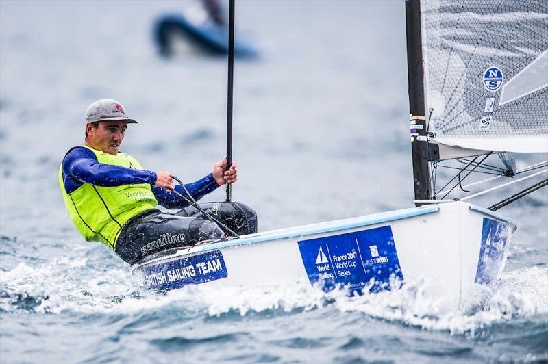 Finn leader Ben Cornish on day 2 at World Cup Hyères - photo © Pedro Martinez / Sailing Energy / World Sailing