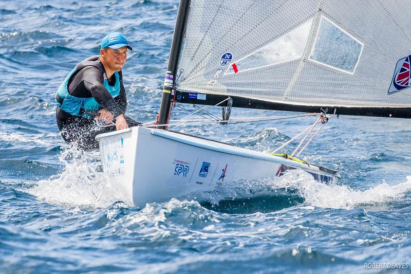 Henry Wetherell at the Finn Europeans in Marseille - photo © Robert Deaves