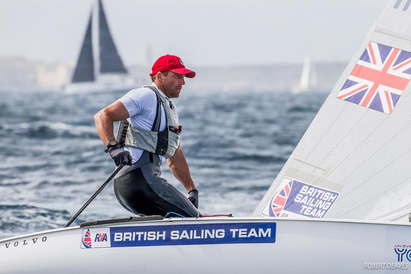 Ed Wright at the Finn Europeans in Marseille - photo © Robert Deaves