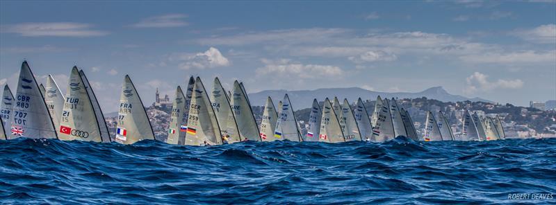 The fleet during the Finn Europeans in Marseille - photo © Robert Deaves