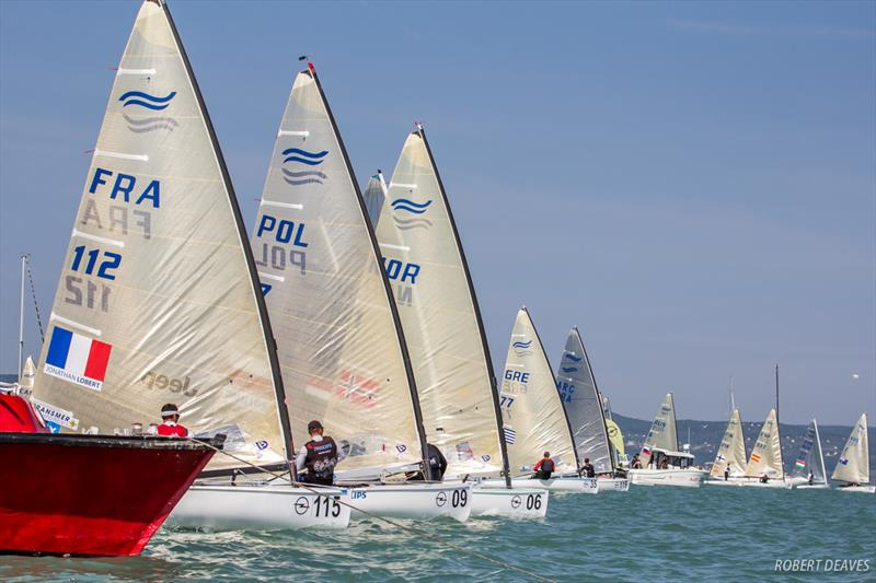 Medal Race start at the 2017 Opel Finn Gold Cup at Lake Balaton - photo © Robert Deaves