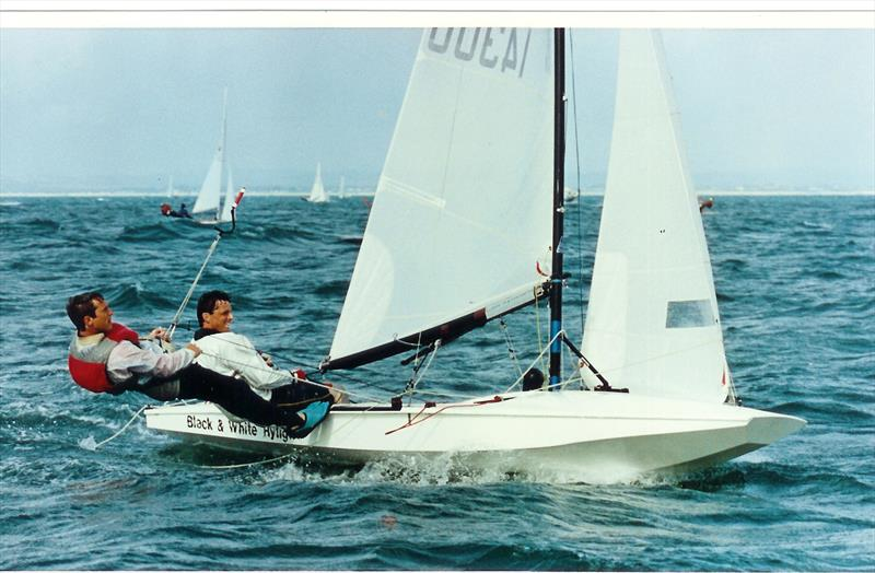 Dave Hall & Paul Constable in 1993 at Hayling Island SC - photo © Nick Champion / www.championmarinephotography.co.uk