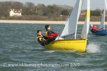 Over 50 dinghies compete in the 45th Hamble Warming Pan