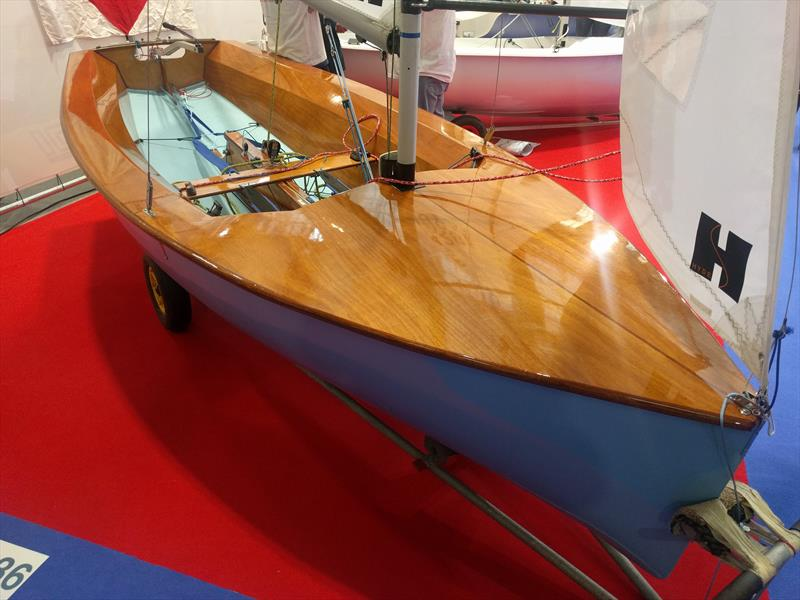 The 2017 championship winning Firefly at the RYA Dinghy Show 2018 photo copyright Mark Jardine / YachtsandYachting.com taken at RYA Dinghy Show and featuring the Firefly class