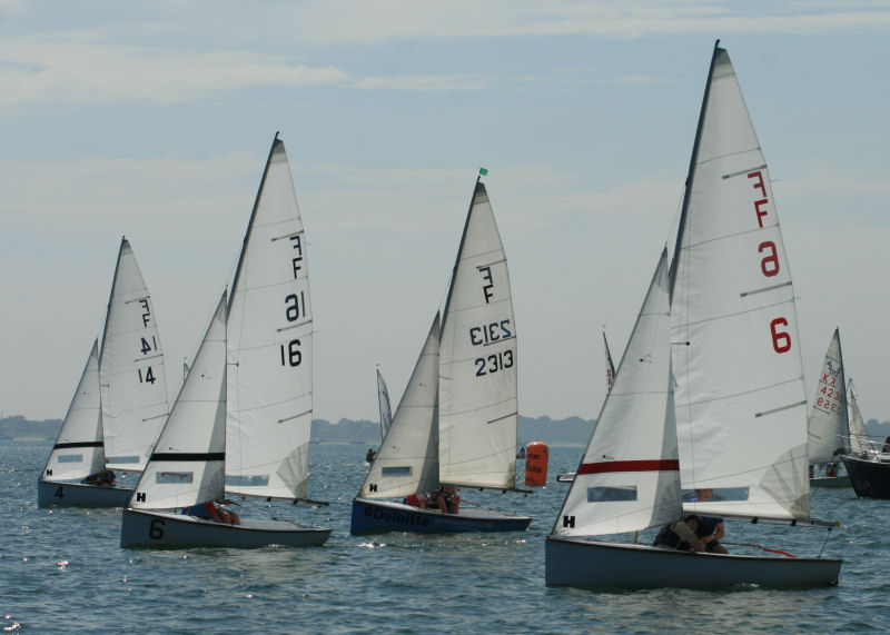 Racing during the Schools Sailing Championships at Itchenor