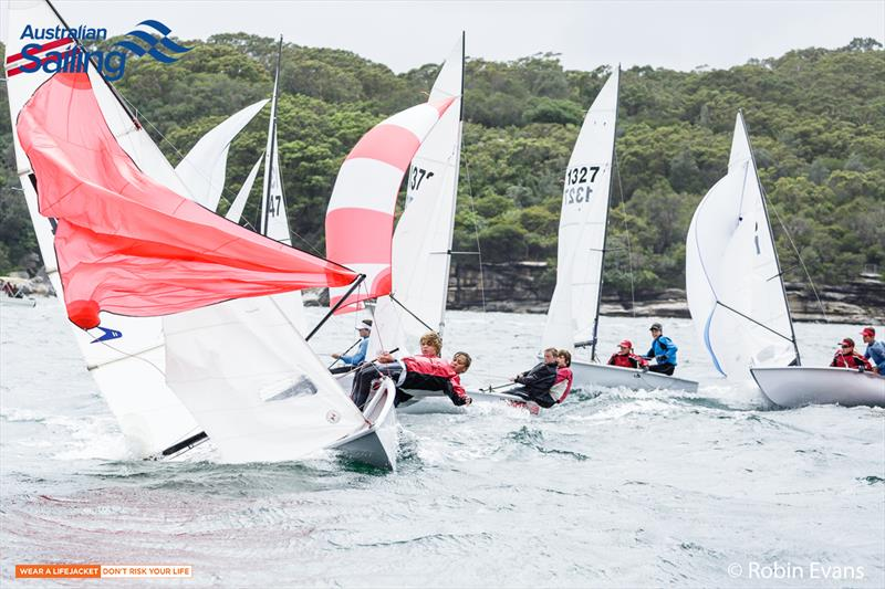 Flying 11s wrestling conditions on the final day of Sail Sydney - photo © Robin Evans