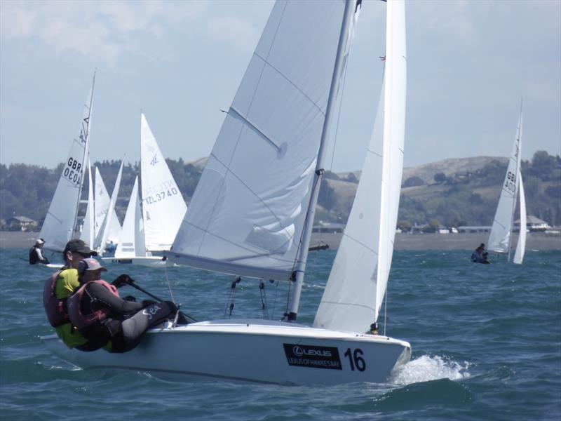 Nick and Janet Jerwood on day 4 of the Flying Fifteen Worlds at Napier - photo © Jonny Fullerton