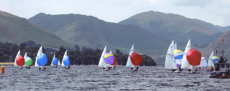 Flying Fifteens racing on Ullswater photo copyright Sue Giles taken at Ullswater Yacht Club and featuring the Flying Fifteen class
