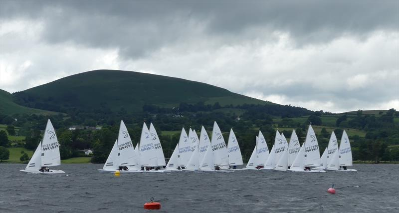 The start of Race 2 during the Flying Fifteen Northern Championship at Ullswater - photo © Pauline Thompson