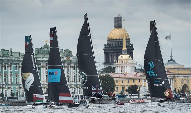 The fleet on day 1 of  Extreme Sailing Series™ Act 5, St Petersburg - photo © Lloyd Images