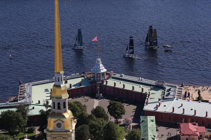 Racing on day 4 of Extreme Sailing Series™ Act 5, St Petersburg - photo © Lloyd Images