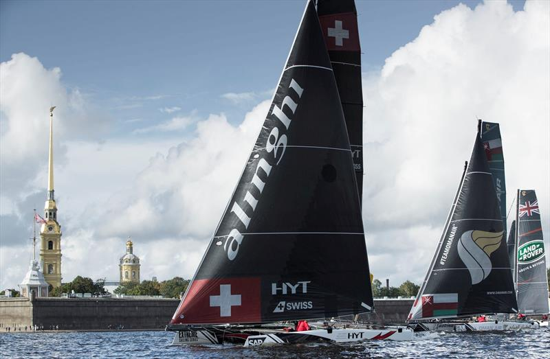 Alinghi secured their second 2016 Act win Extreme Sailing Series™ Act 5, St Petersburg - photo © Lloyd Images