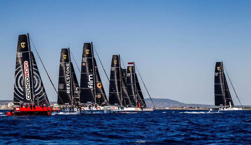 More full-blown reaching starts in the GC32 Racing Tour at the 36th Copa del Rey MAPFRE - photo © Jesus Renedo / GC32 Racing Tour