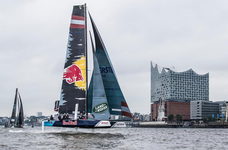 Day 3 of Extreme Sailing Series Act 5 Hamburg photo copyright Lloyd Images taken at  and featuring the GC32 class