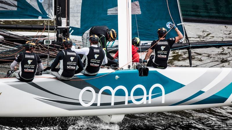 Extreme Sailing Series Act 5 Hamburg winners Oman Air - photo © Lloyd Images