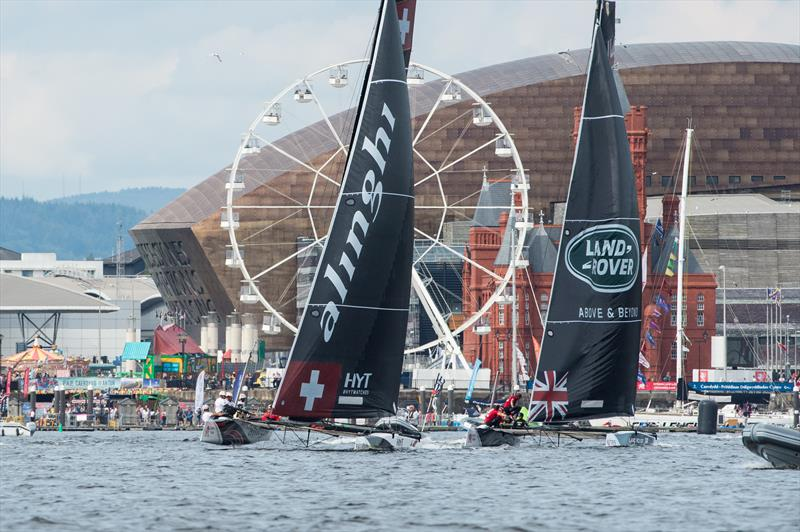 Extreme Sailing Series™ Act 6, Cardiff day 2 - photo © Vincent Curutchet