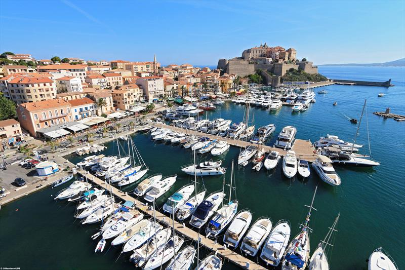 The marina at Calvi, in the shadow of the town's famous citadel - photo © Sebastien Aude