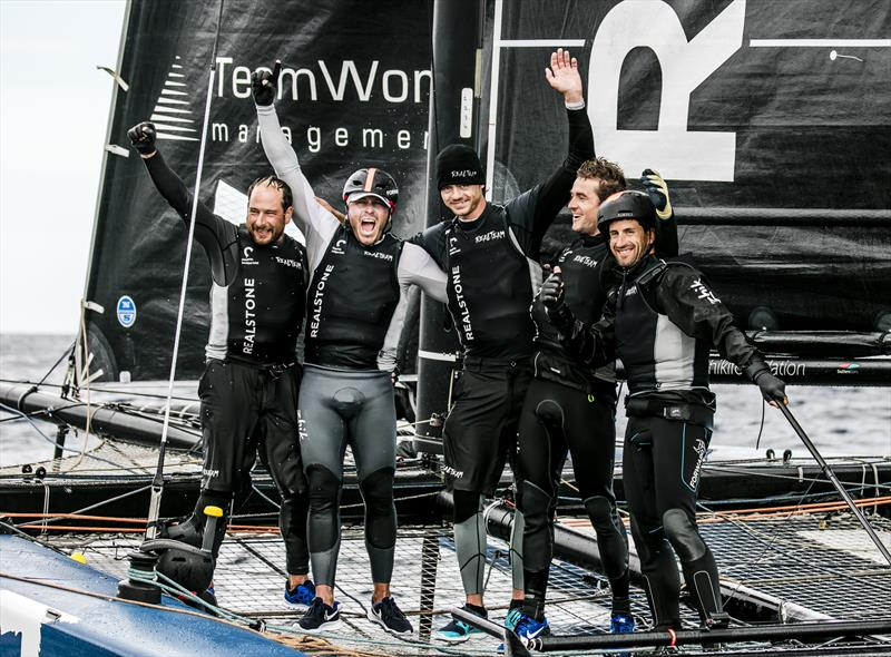 The winning Realteam crew at the GC32 Racing Tour Orezza Corsica Cup - photo © Jesus Renedo / GC32 Racing Tour