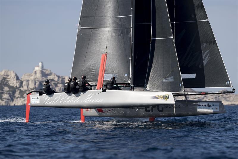 Pierre Casiraghi's Malizia - Yacht Club de Monaco on the Marseille One Design Practice Day - photo © Gilles Martin-Raget / GC32 Racing Tour