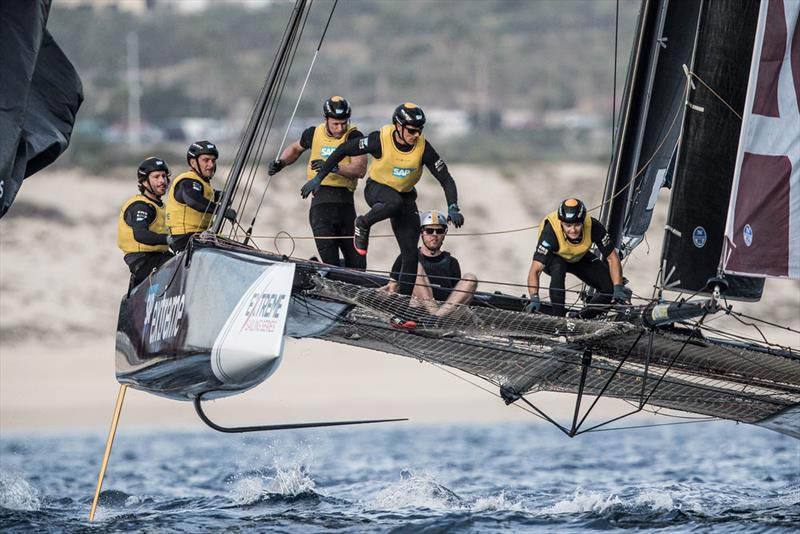 SAP Extreme Sailing Team finish day two on 120 points on the Act 8, Los Cabos, presented by SAP leaderboard. - photo © Lloyd Images