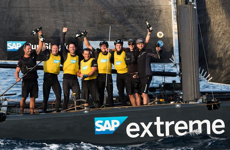 SAP Extreme Sailing Team is crowned champion of the 2017 Extreme Sailing Series™ in Los Cabos, Mexico. - photo © Lloyd Images
