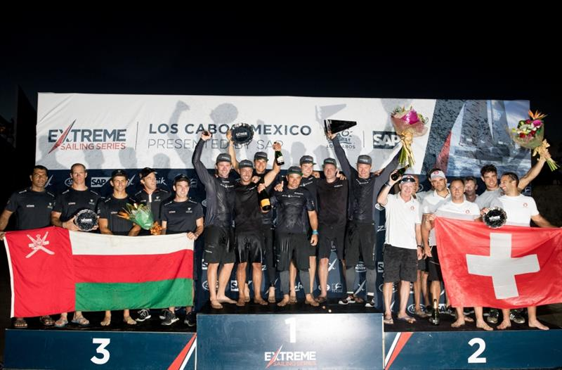 The Extreme Sailing Series 2017. Act 8. 30th November- 3rd December 2017. Los Cabos Mexico, Cabo San Lucas Resort. DAY 4 Prize Giving at the Breathless Hotel photo copyright Lloyd Images taken at  and featuring the GC32 class