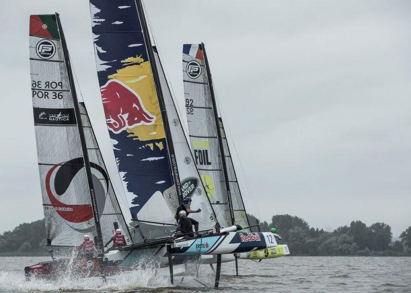 Extreme Sailing Series Act 5, Hamburg 2017 - day two - Flying Phantom Series photo copyright Lloyd Images taken at  and featuring the GC32 class