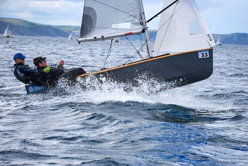 Second overall Mike Senior and Chris White during the GP14 Nationals at Looe - photo © Richard Craig / www.SailPics.co.uk
