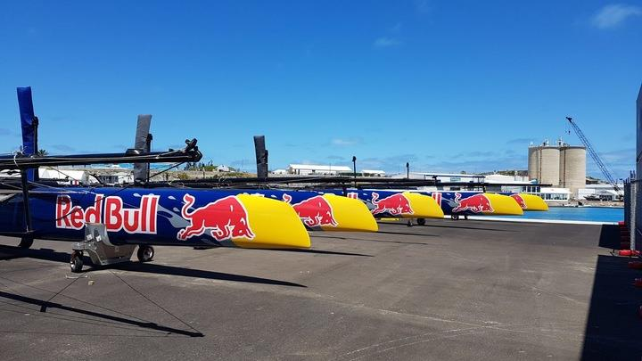 AC45F fleet ready to go in Bermuda - photo © Grapefruit Graphics