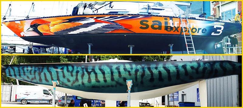 Vinyl Boat Wraps - photo © Grapefruit Graphics