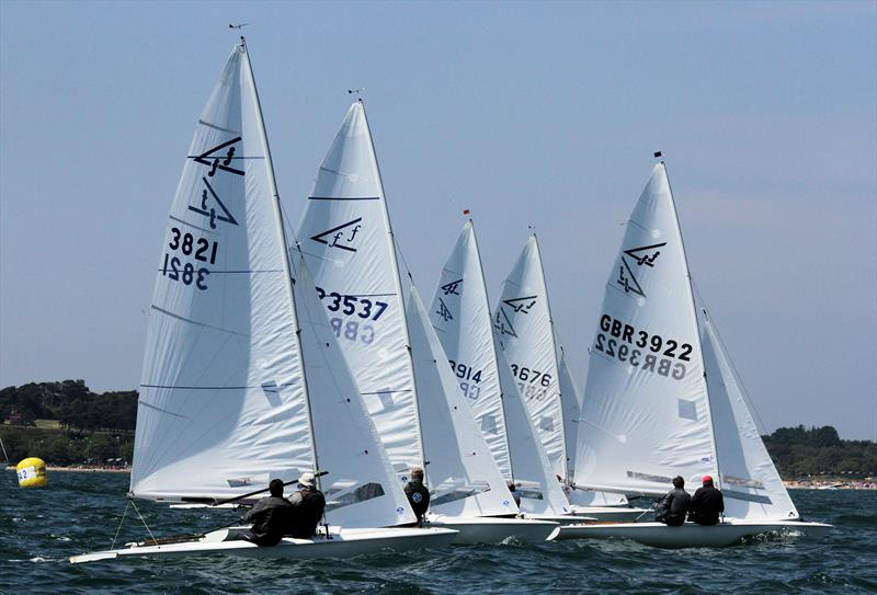 One-design fleets provide the closest racing photo copyright Mark Jardine taken at Parkstone Yacht Club and featuring the  class