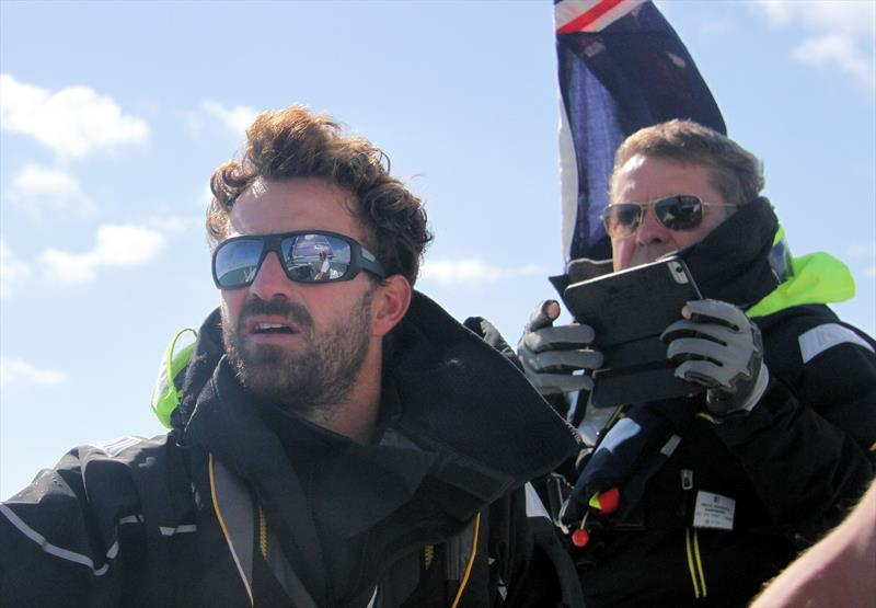 Phil Sharp and Paul Strzelecki aboard IMERYS - photo © Mark Jardine / YachtsandYachting.com
