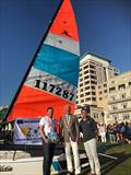 Klaas van Duin, the Mayor and Michel Corigliano on day 2 of the Hobie® Multiworlds And Europeans