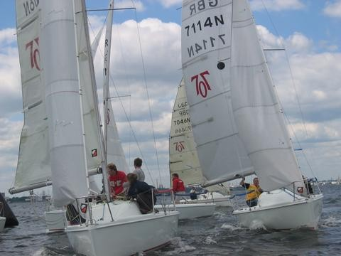 Hunter 707 Team Racing at Royal Southern Yacht Club
