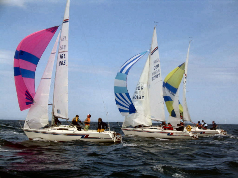Hunter Formula One Nationals at Courtown Sailing Club